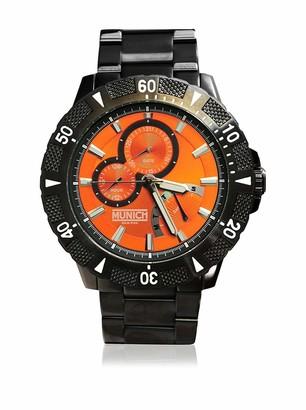 Munich Unisex Adult Analogue Quartz Watch with Stainless Steel Strap MU+104.1C