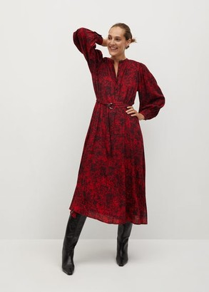 MANGO Flowy printed dress red - 2 - Women
