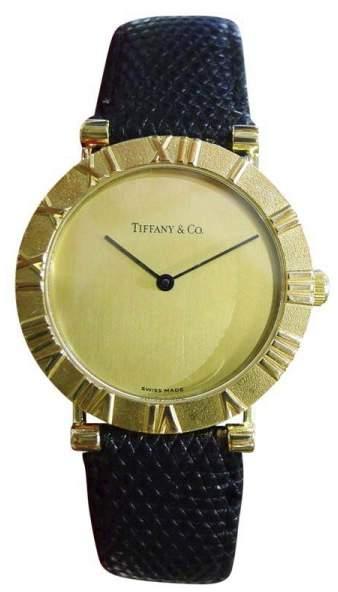 Tiffany & Co. Atlas 18K Yellow Gold Quartz 31mm Mens Watch