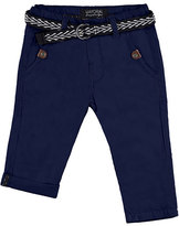 Mayoral Belted Straight-Leg Chino Pants, Blue, Size 12-36 Months