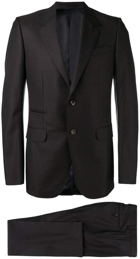 Gucci polka-dot two piece suit