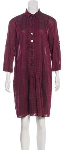 Burberry Check-Print Shirt Dress
