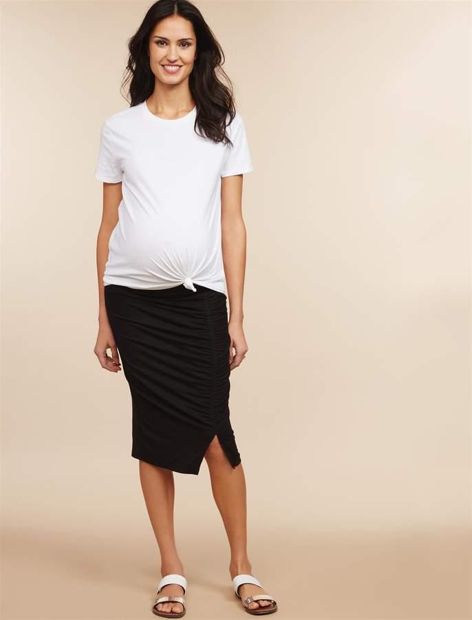 Motherhood Maternity Under Belly Pencil Fit Maternity Skirt