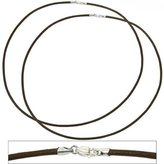 """FindingKing Leather Cord Necklaces Brown 18"""" 2Pcs"""