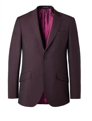 Richard James Burgundy Slim-Fit Wool And Mohair-Blend Suit Jacket