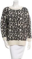 Joseph Leopard Print Wool Sweater