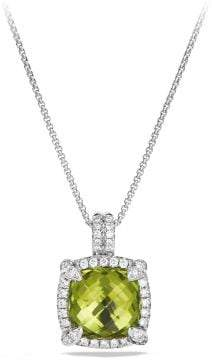 David Yurman Châtelaine Pave Bezel Pendant Necklace With Peridot And