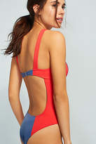 Solid & Striped The Hailey Colorblocked One-Piece Swimsuit