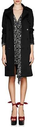 Saint Laurent Women's Twill Trench Coat - Black