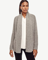 Ann Taylor Petite Mixed Stitch Open Cardigan