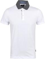 Boss Place 10 White Slim Fit Jersey Polo Shirt