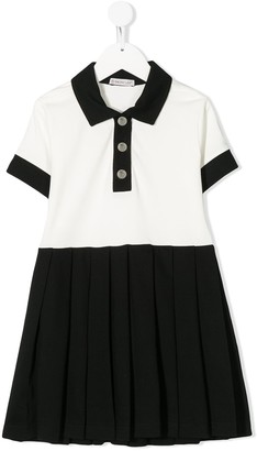 Moncler Enfant Two-Tone Flared Dress