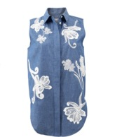 3.1 Phillip Lim Embroidered Chambray Tank