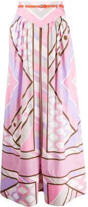 Emilio Pucci Belted Pleated Skirt