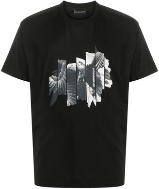 Emporio Armani graphic-print cotton T-shirt