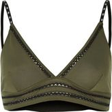 River Island Womens Khaki branded lace panel bralette