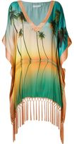 BRIGITTE palm tree print beach dress