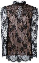 Lanvin lace sheer top