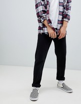 Weekday Pine loose fit cropped jeans tuned black