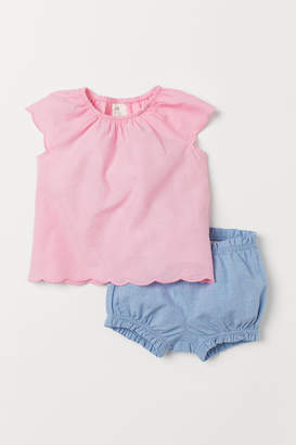 H&M Cotton Blouse and Shorts