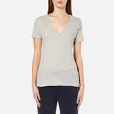 Polo Ralph Lauren Women's V Neck TShirt - Granite Heather