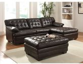 Acme Nigel Dark Brown Bonded Leather Match Sectional Sofa