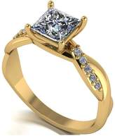 Very Moissanite MOISSANITE 9CT GOLD 1.15ct Eq Total Square Brilliant SOLITAIRE RING