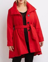 Charlotte Russe Plus Size Wool Blend Swing Coat
