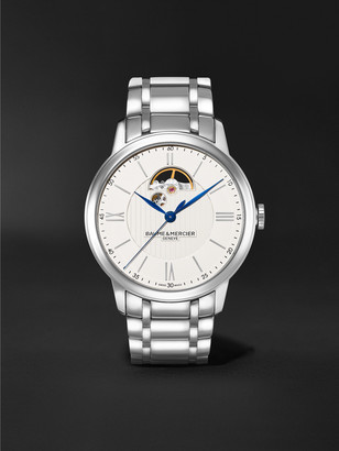 Baume & Mercier Classima Automatic Open Balance 42mm Stainless Steel Watch, Ref. No. MOA10525 - Men - Silver