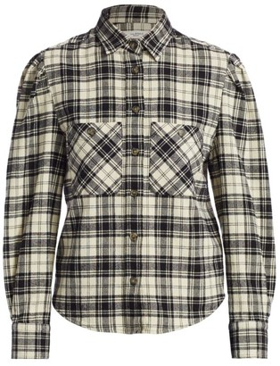 Etoile Isabel Marant Falco Plaid Wool-Blend Shirt