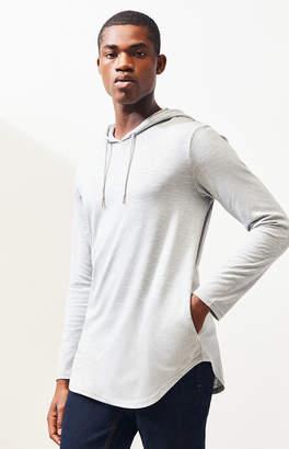 Leroy Pacsun PacSun Hooded Long Sleeve Scallop T-Shirt