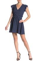 Ash Max & Polka Dot Flutter Sleeve Dress