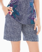 Soma Intimates Bermuda Pajama Shorts Bali Dot Navy