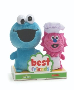 Sesame Street Cookie Monster and Gonger Bff Set, 4 in