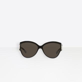 Balenciaga Sunglasses in black acetate with black lenses