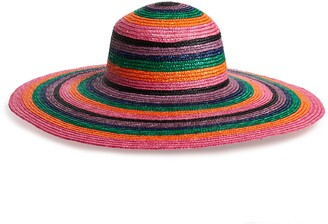 San Diego Hat Wheat Straw Multi Stripe Hat