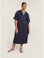 Tommy Hilfiger Curve Nautical Striped Dress