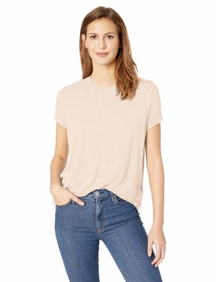 Majestic Filatures Women's Extrafine S/S Crew with Pleat Back Detail