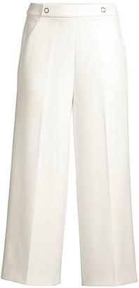 Elie Tahari Juno Wide-Leg Twill Pants