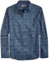 American Rag Men's Textured Check Cotton Shirt, Only at Macy's