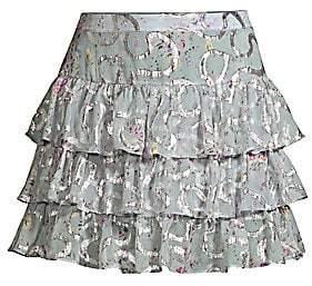 LoveShackFancy Women's Alyssa Tiered Ruffle Skirt