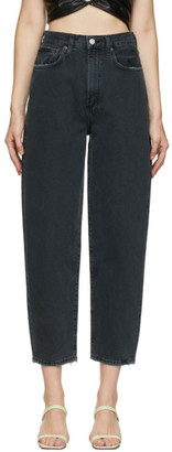 AGOLDE Black Curved Balloon Jeans