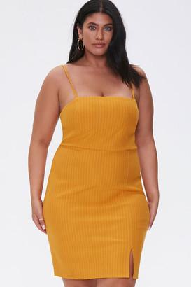 Forever 21 Plus Size Pinstriped Mini Dress