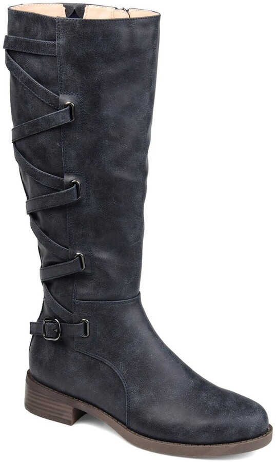Navy Boot Wide Calf   Shop the world's