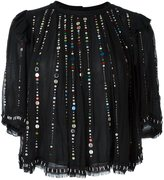 Isabel Marant sequin embroidered blouse - women - Silk/Acrylic - 38