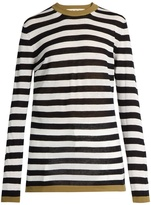 Marni Striped linen and silk-blend sweater