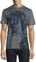 Brioni Short-Sleeve Horse-Print T-Shirt, Black/Gray