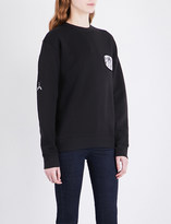 Aries Patch appliqué cotton-jersey sweatshirt
