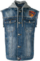 Philipp Plein Deer denim gilet - men - Cotton - M