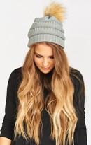 MUMU Heidi Pom Pom Hat ~ Grey